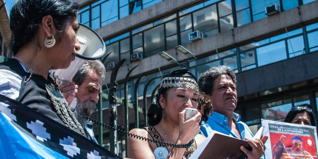 manifestazione mapuche