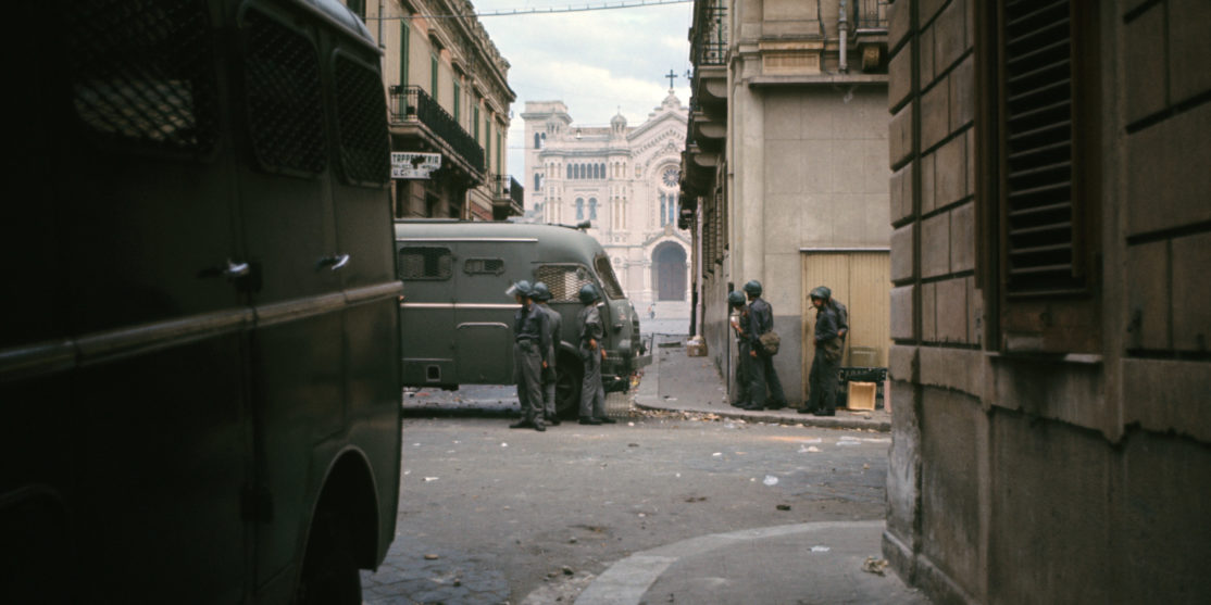 The Police Guarding The Streets Of Reggio Calabria