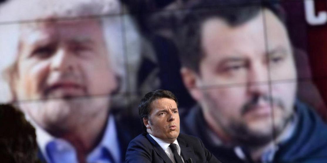 Trasmissione televisiva Porta a Porta, Renzi