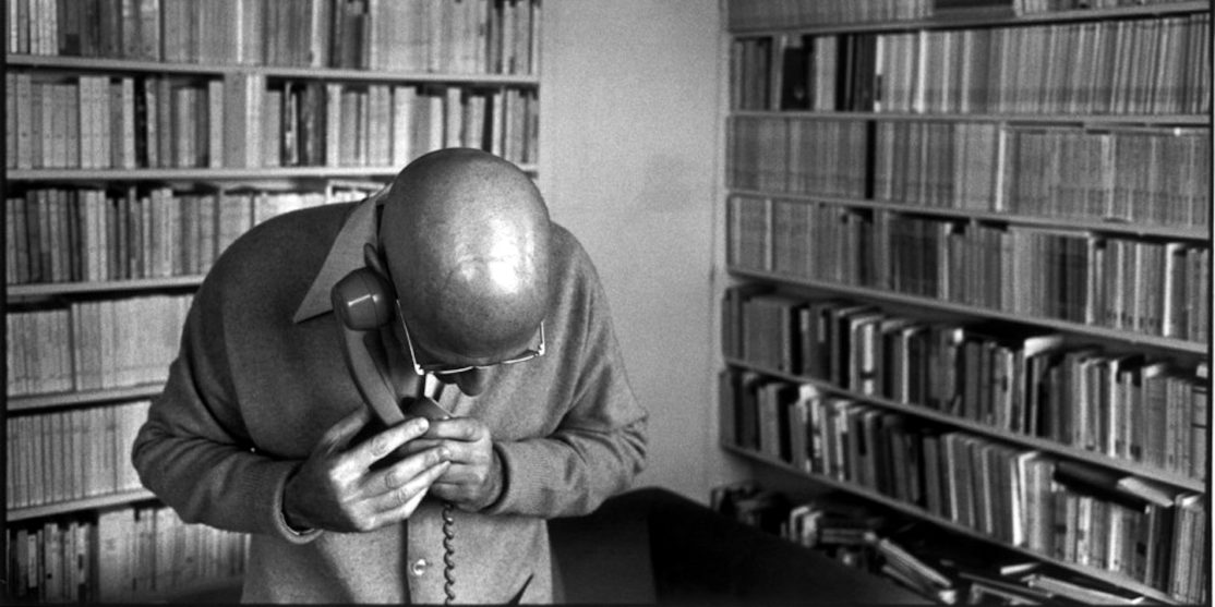 French philosopher Michel FOUCAULT at home.