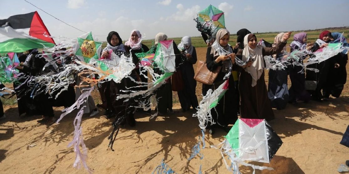 Palestinians-in-Gaza-launch-flight-of-return-ahead-of-Land-Day