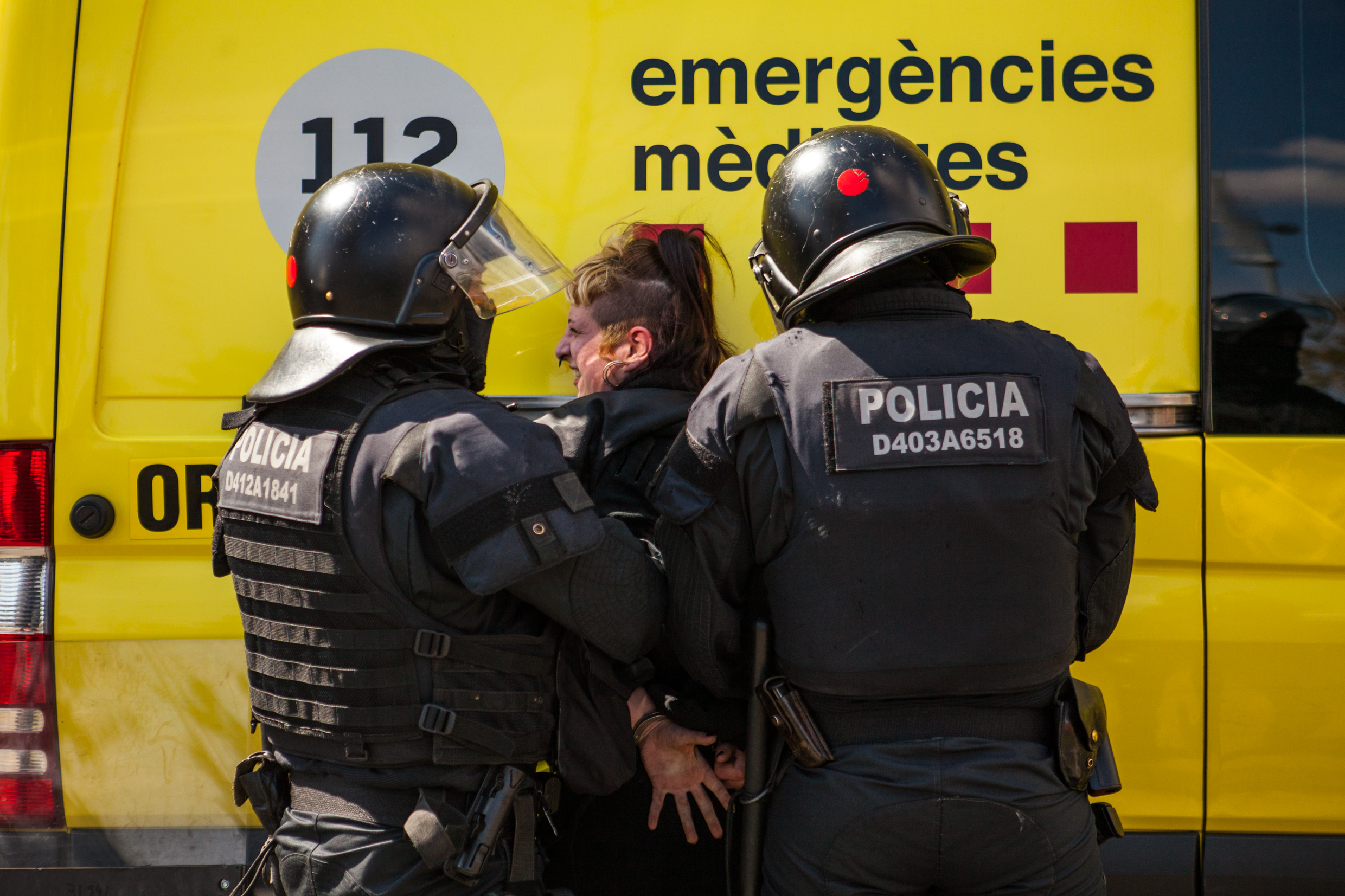 Antifascist arrested by catalan police.
