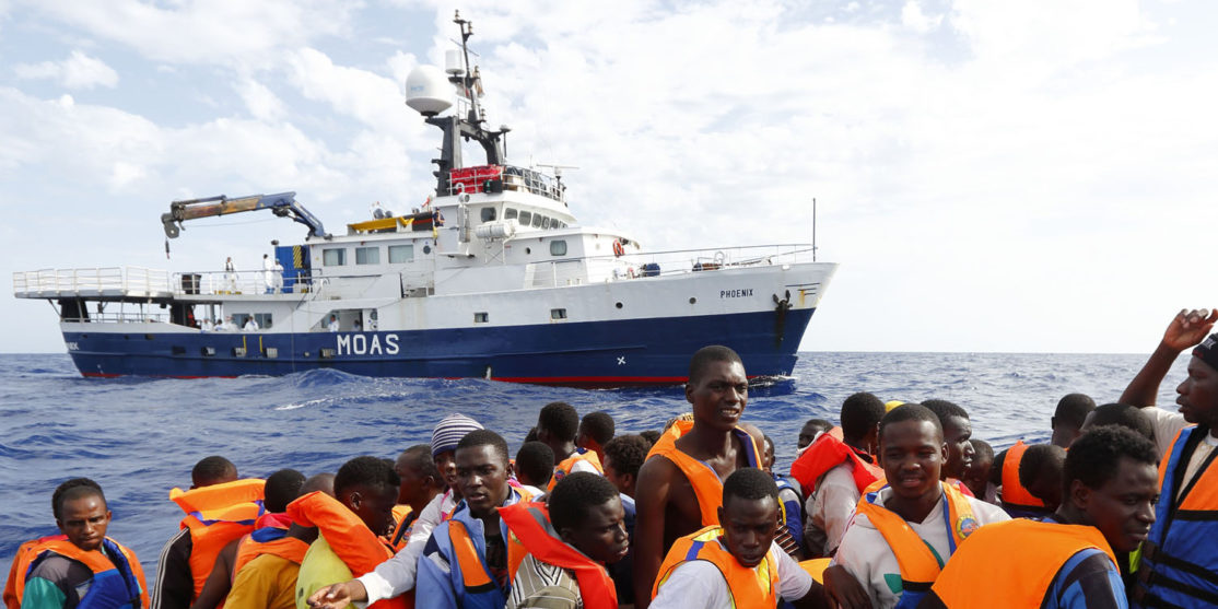 MOAS rescue 105 migrants in rubber dinghy Photo: Darrin Zammit Lupi/MOAS