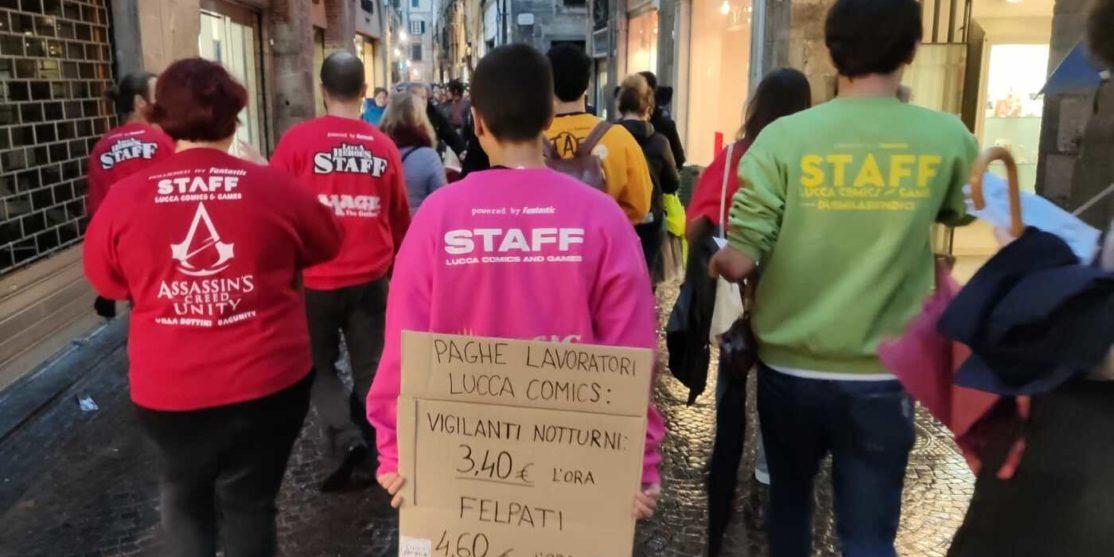 Protesta di Lucca Crepa (dalla pagina Facebook)