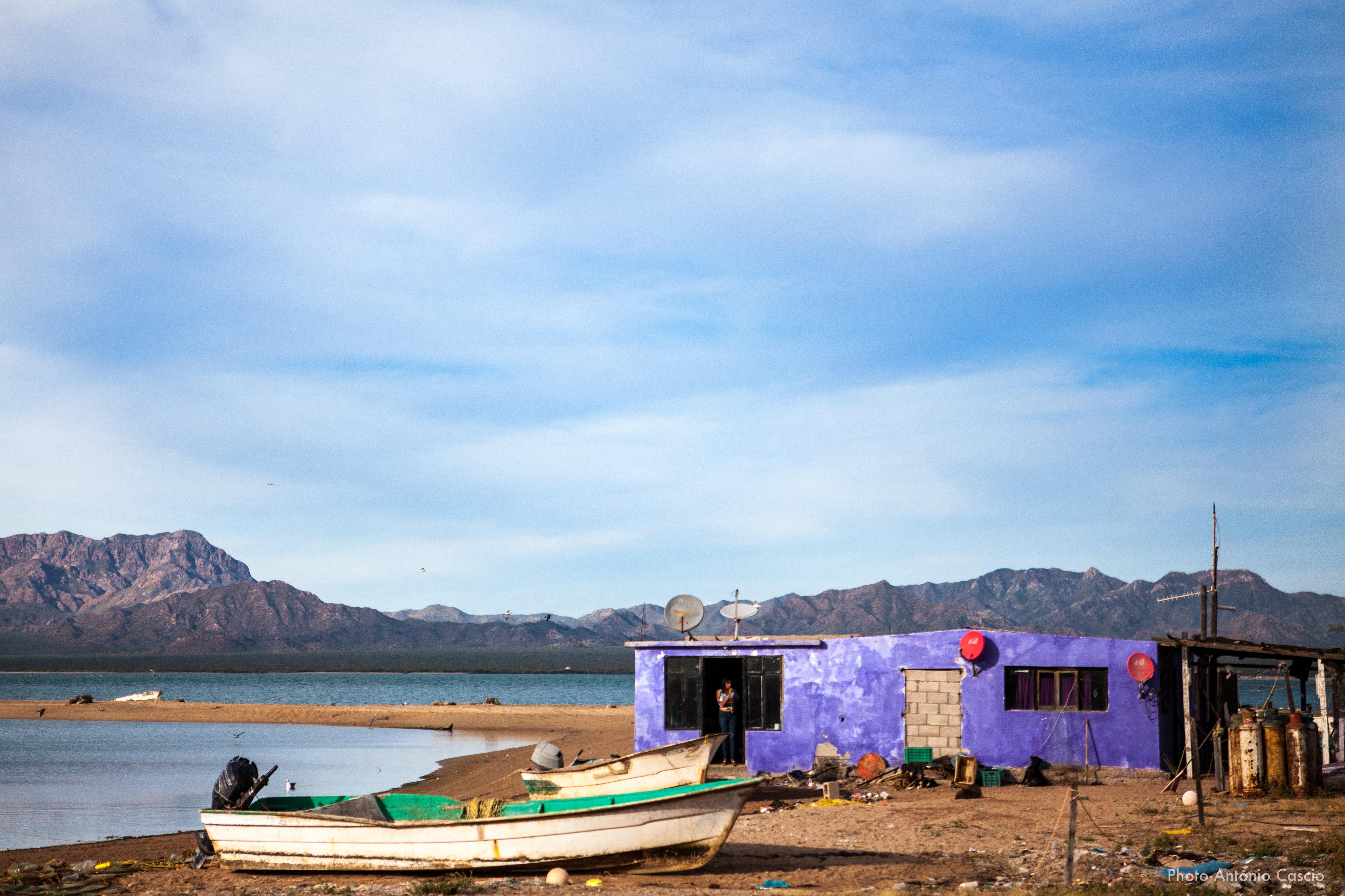 Casa indigena nella comunità Coomcac alle estremità dell'isola Tiburon. Punta Chueca, Sonora, Mexico. 11/12/19