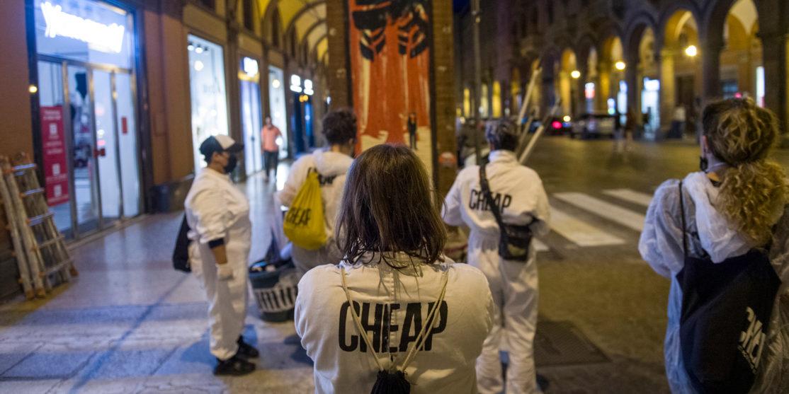 """l – per """"La lotta è FICA"""" un progetto di public art di CHEAP (ph Michele Lapini)"""