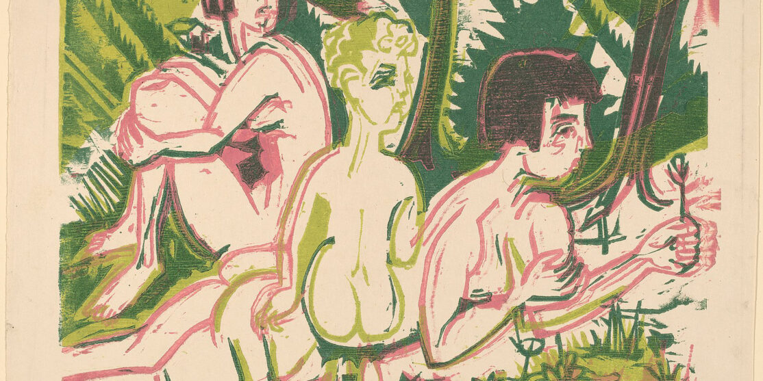 1599px-Ernst_Ludwig_Kirchner,_Nude_Women_with_a_Child_in_the_Forest,_1925,_NGA_154352
