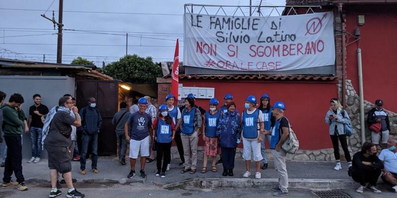 silvio latino caschi blu (foto rent strike)